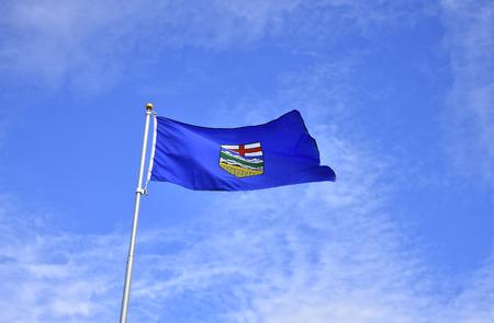 Waving Alberta Provincial Flag