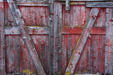 Red Barn Door Abstract Imagens