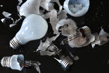 Broken Light Bulb Close Up