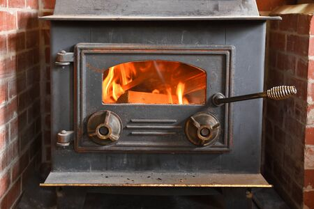 Wood Burning Stove Stockfoto