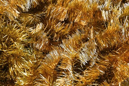 Gold Christmas Garland Abstract Stok Fotoğraf