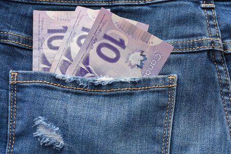 Canadian Money Close Up