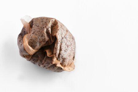 Single Used Teabag Close Up