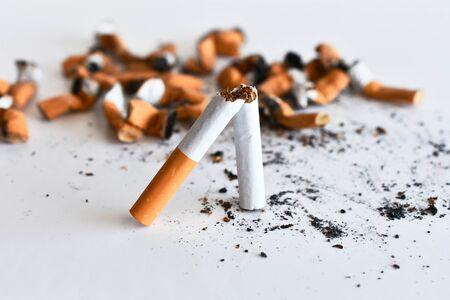 Broken Cigarette Close Up