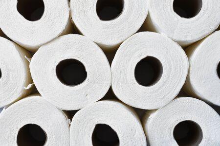 White Toilet Tissue Background