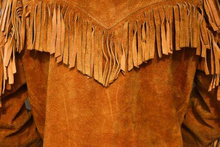 Vintage Leather Coat with Fringes