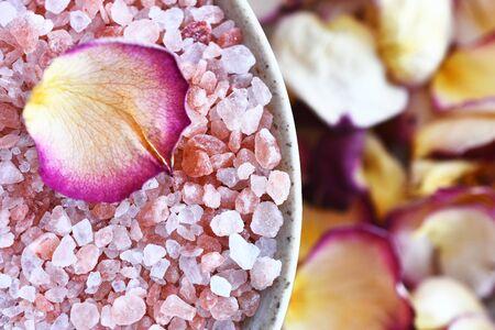 Pink Himalayan Salt and Rose Petals