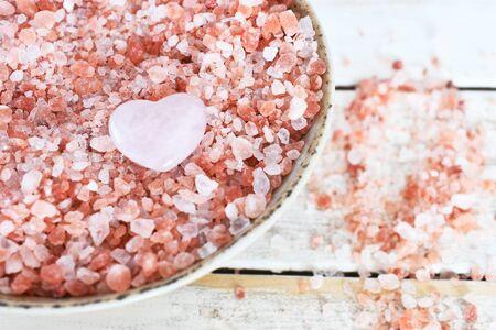 Pink Himalayan Salt and Rose Quartz Crystal