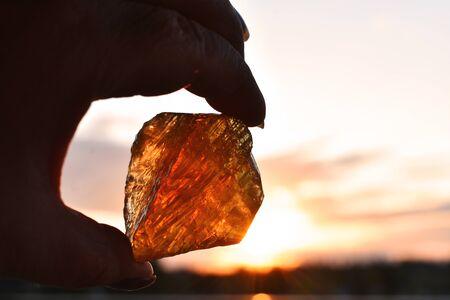 Honey Calcite Crystal