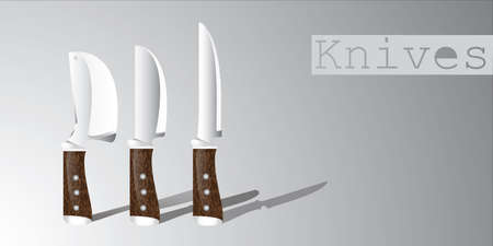 domestically: Knives with a shadow Illustration