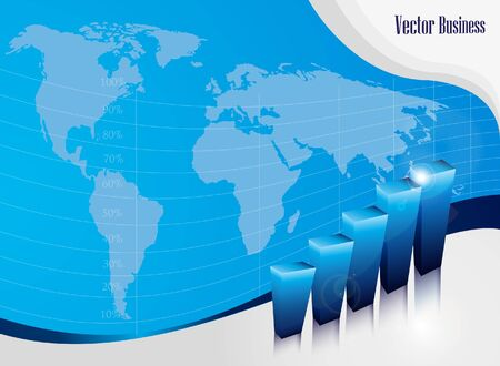 Growth concept business brochure background with diagram Vector