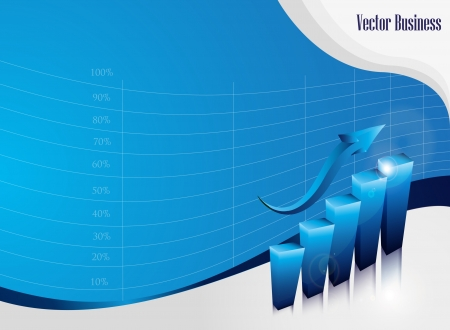 financial gains: Growth concept business brochure background with diagram