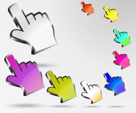 hand cursor 3d Stock Vector - 14127163