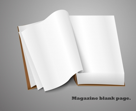unfolded: Realistic magazine set number four  Illustration on white background for design