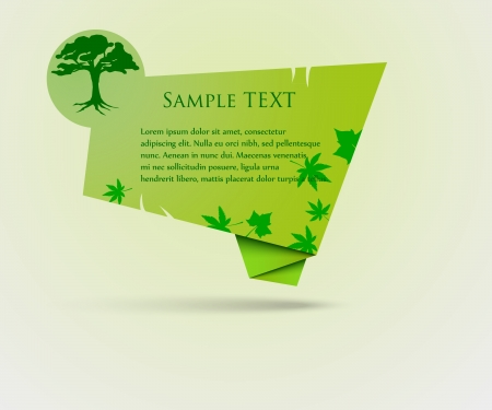 Green Speech Bubble with tree Stock Vector - 14127147