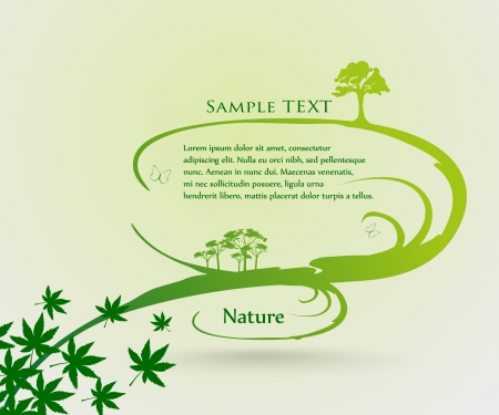 vector nature background  Abstract fly leaves background Stock Vector - 14127145