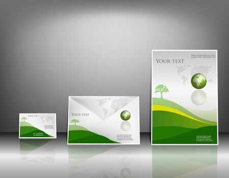 blank brochure: poster flyer and name-card design background