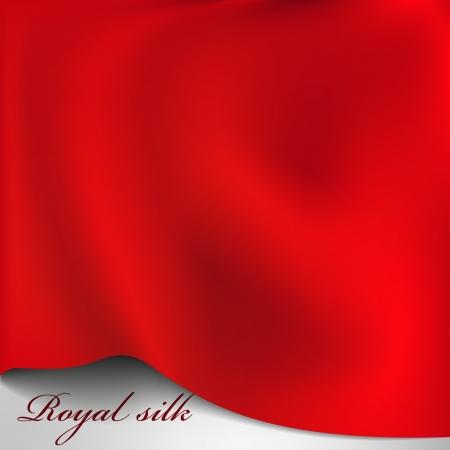 tela seda: Vector rojo fondo de seda