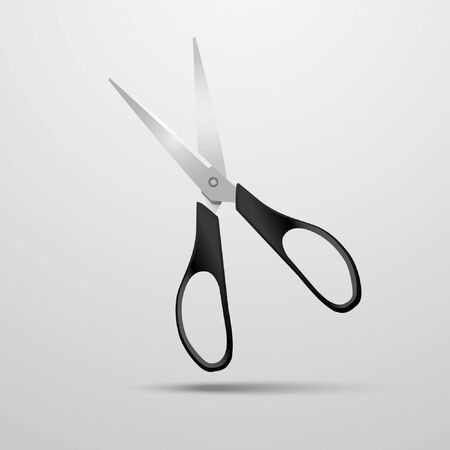scissors on a white background Stock Vector - 14114048