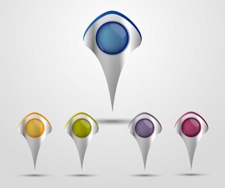 pin: Juego de colores Mapa marcadores metall
