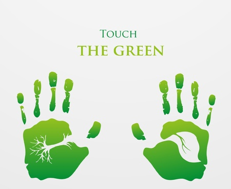 go green icons: Think Green  Ecology Concept  Illustration