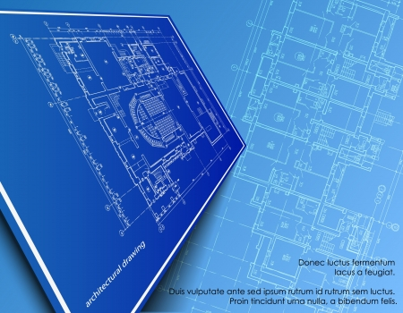 Fondo parte architettonica del progetto architettonico, progetto architettonico, progetto tecnico, disegno tecnico lettere, architetto al lavoro, progettazione architettura su carta, piano di costruzione