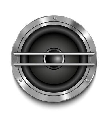 loud speaker: Icon loudspeaker vector  Audio loud speaker  Stereo, sound, radio, volume, dolby illustration