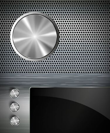 buttons on a metall background Vector