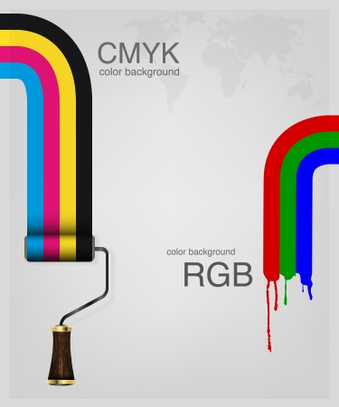 paintroller: CMYK and RGB  Print colors paint-roller