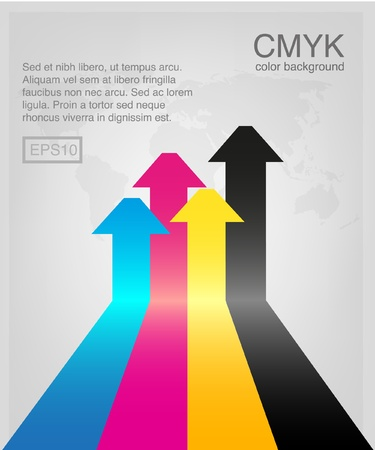 cmyk arrows Illustration