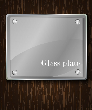 Glass framework and steel   illustration  Vector