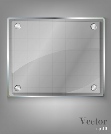 Glass framework set  Vector illustration  Vector