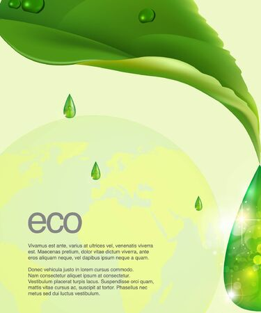 drawing sheet with a drop of eco theme Vector