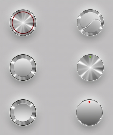 shiny buttons: Metal buttons