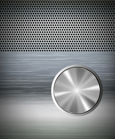 speakers with amplifier and knobs Vector
