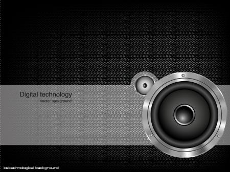 Party design element with speaker  Vector illustration Illustration