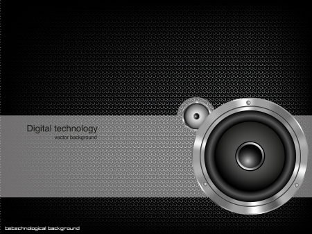 speaker: Party design element with speaker  Vector illustration Illustration