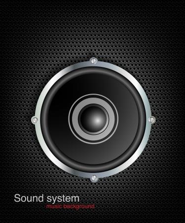 woofer: Icon loudspeaker vector  Audio loud speaker  Stereo, sound, radio, volume, dolby illustration