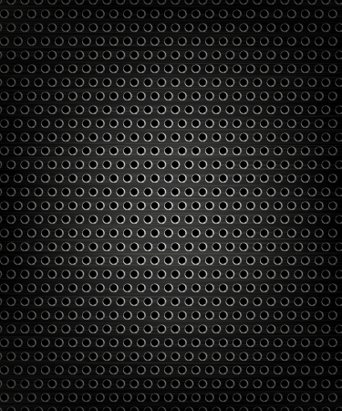 Black speaker grill, metal background, abstract texture Illustration