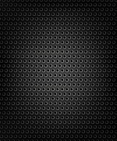malla metalica: Negro rejilla del altavoz, la presencia de metales, la textura abstracta Vectores