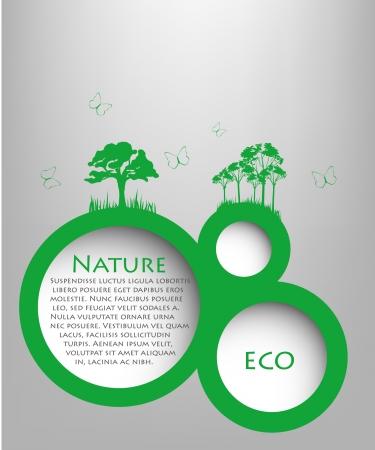 Speech Bubble natyre with tree