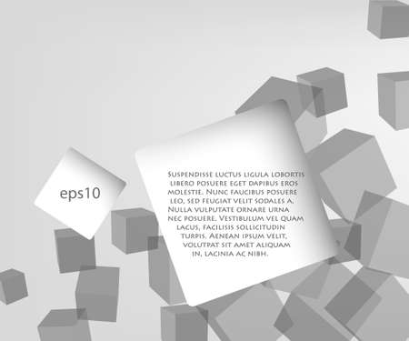 gray bubble with quote speech on the background of cubes Vector