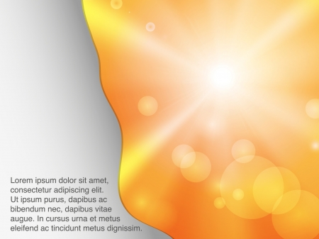 Sunshine banner with transparencies Vector