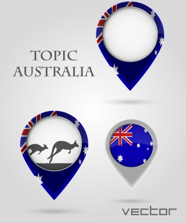 Topic Australia Map Marker Stock Vector - 14178471
