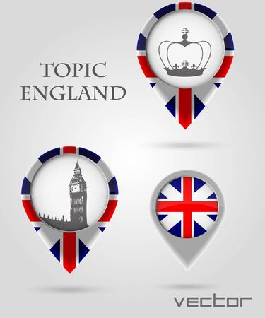 Topic England Map Marker Vector