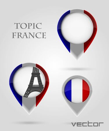Topic France Map Marker Vector