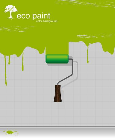 paintroller: Vector drawing eco paint-roller