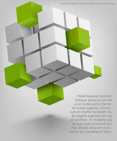 3d cubes  Ilustracja