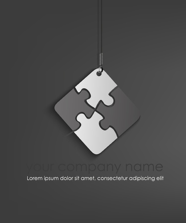 puzzle piece: Puzzle Web icono del elemento de dise�o Vectores