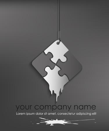 puzzle web icon design element Vector